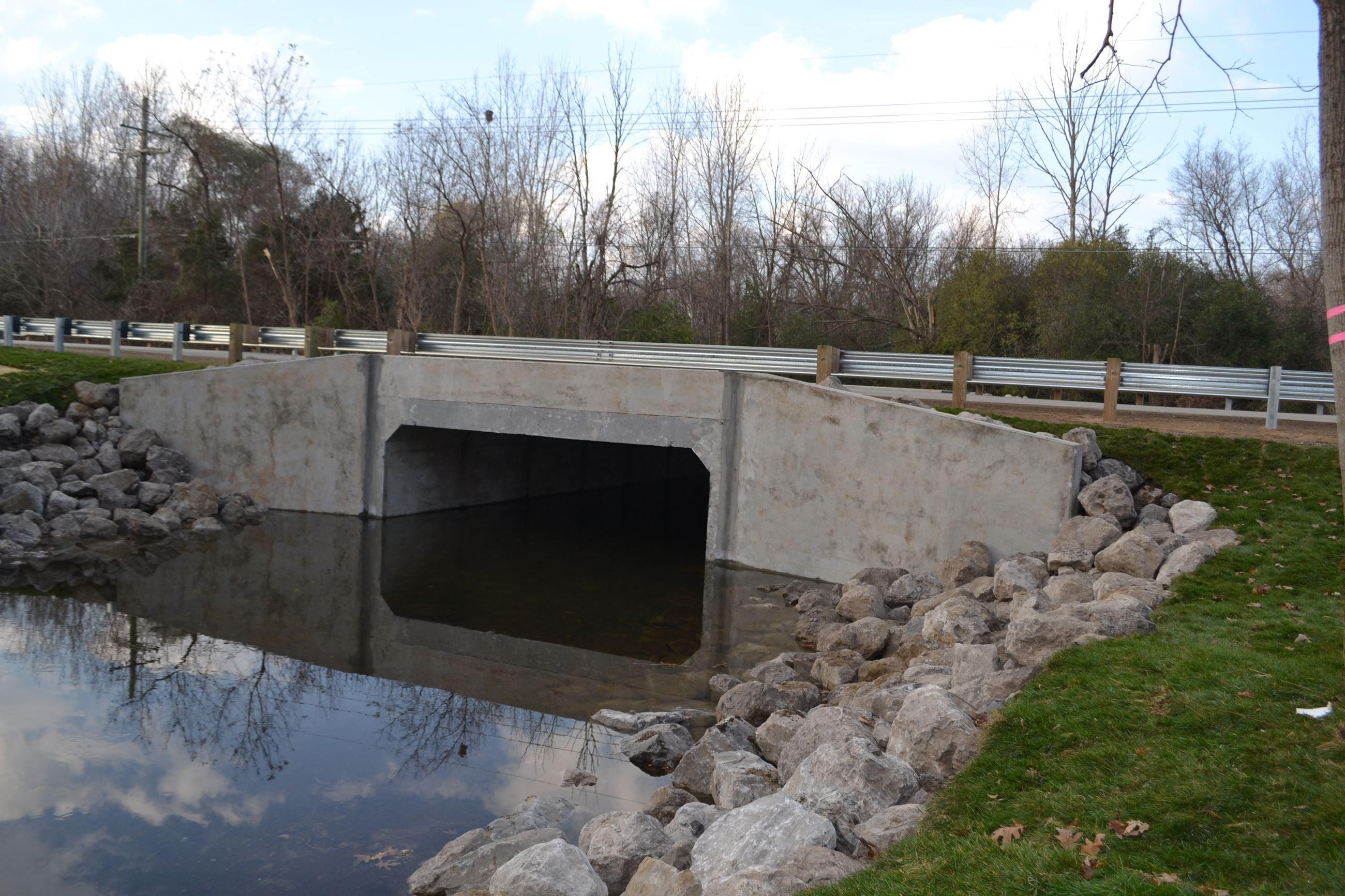 Culvert work is complete