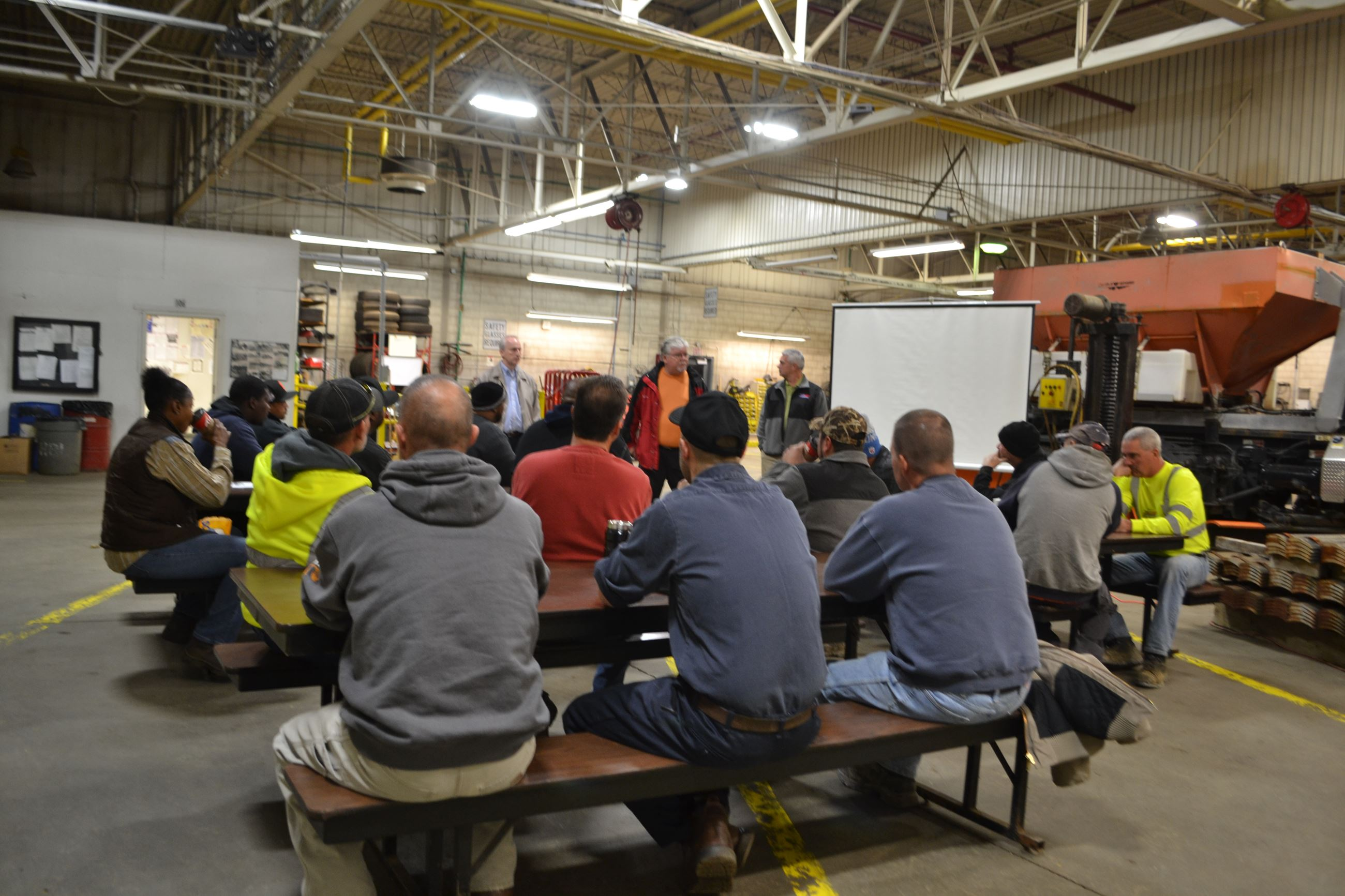 Winter Maintenance Training at the Southfield Garage