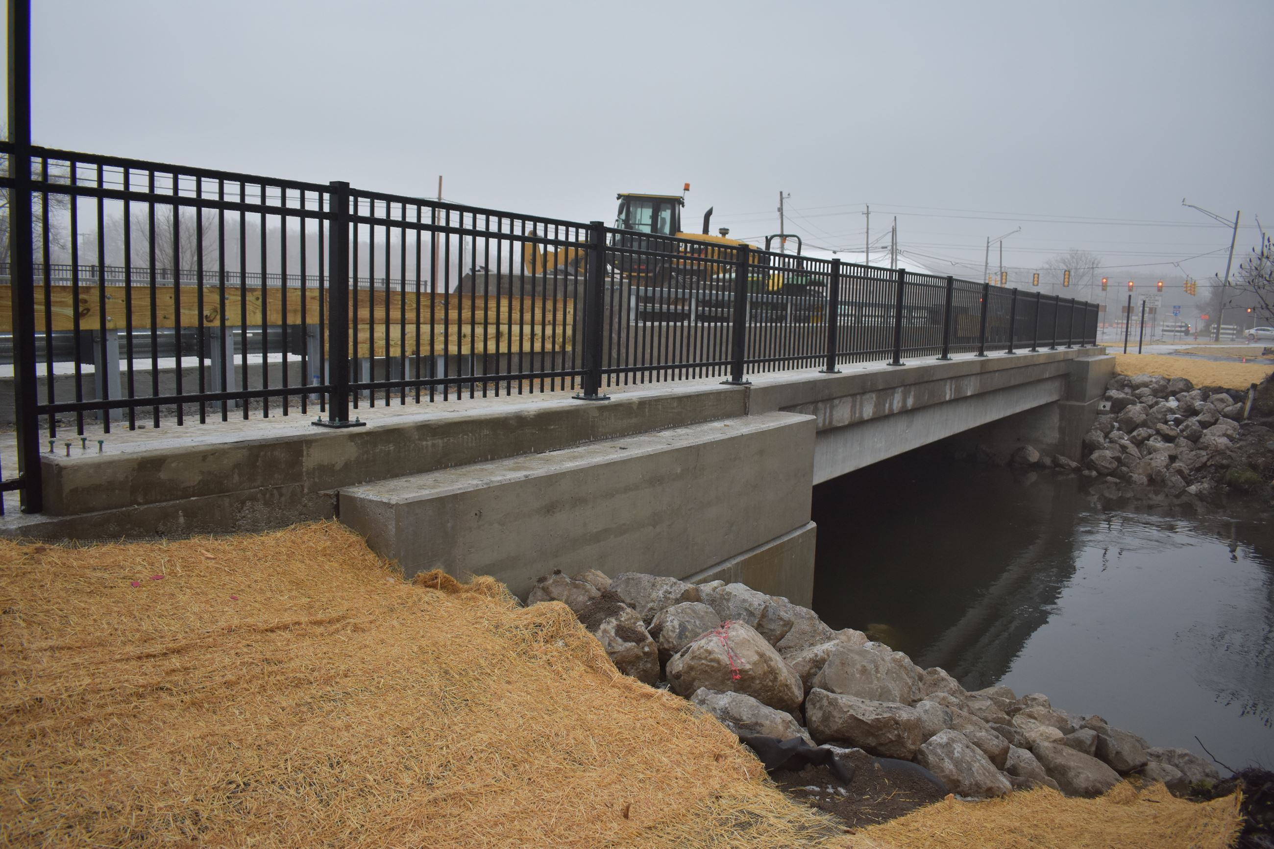 Opdyke Road bridge on 12/14/18 prior to opening