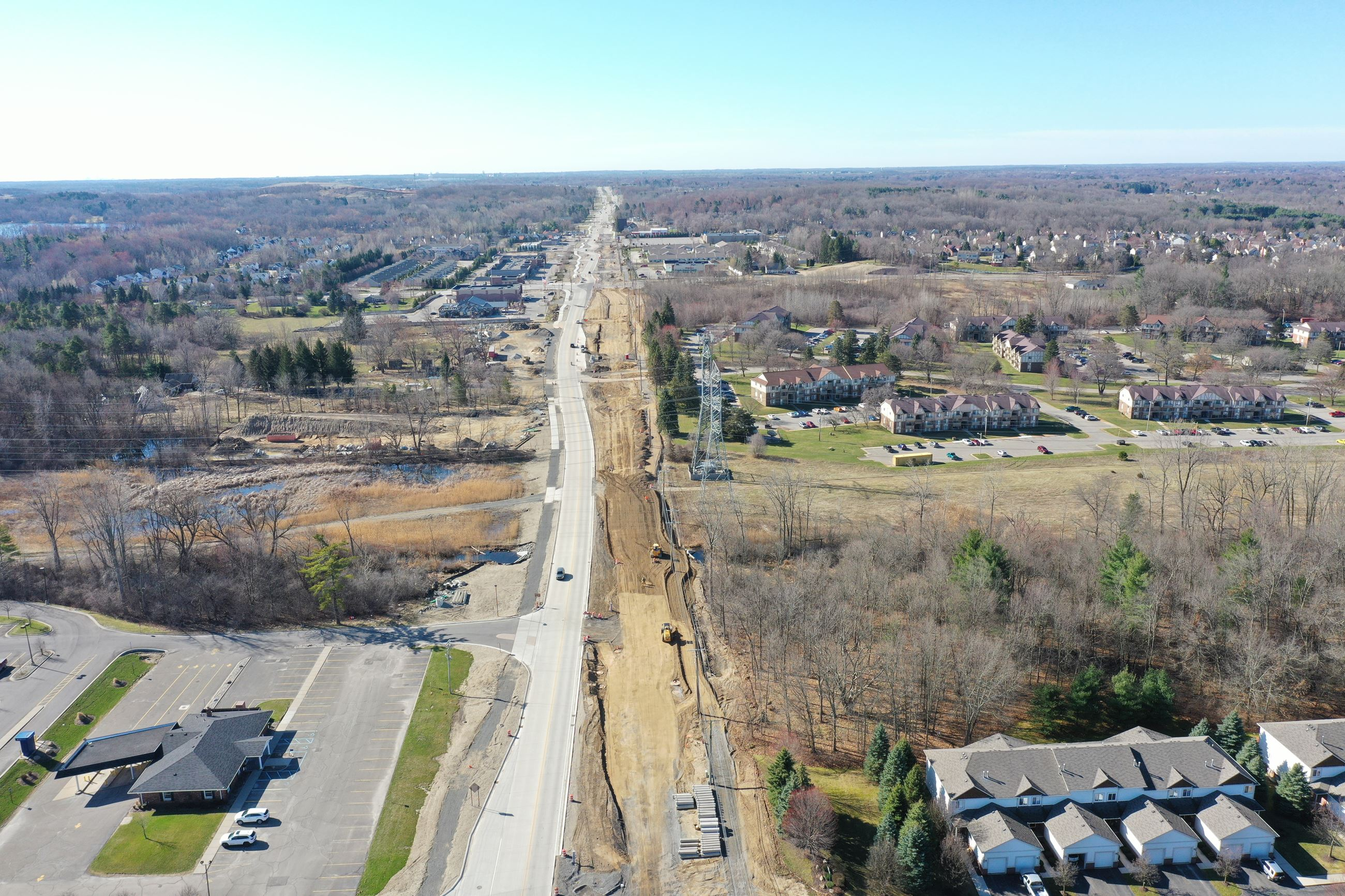 Baldwin Road aerial photo taken early April 2020 (north of Gregory Road)