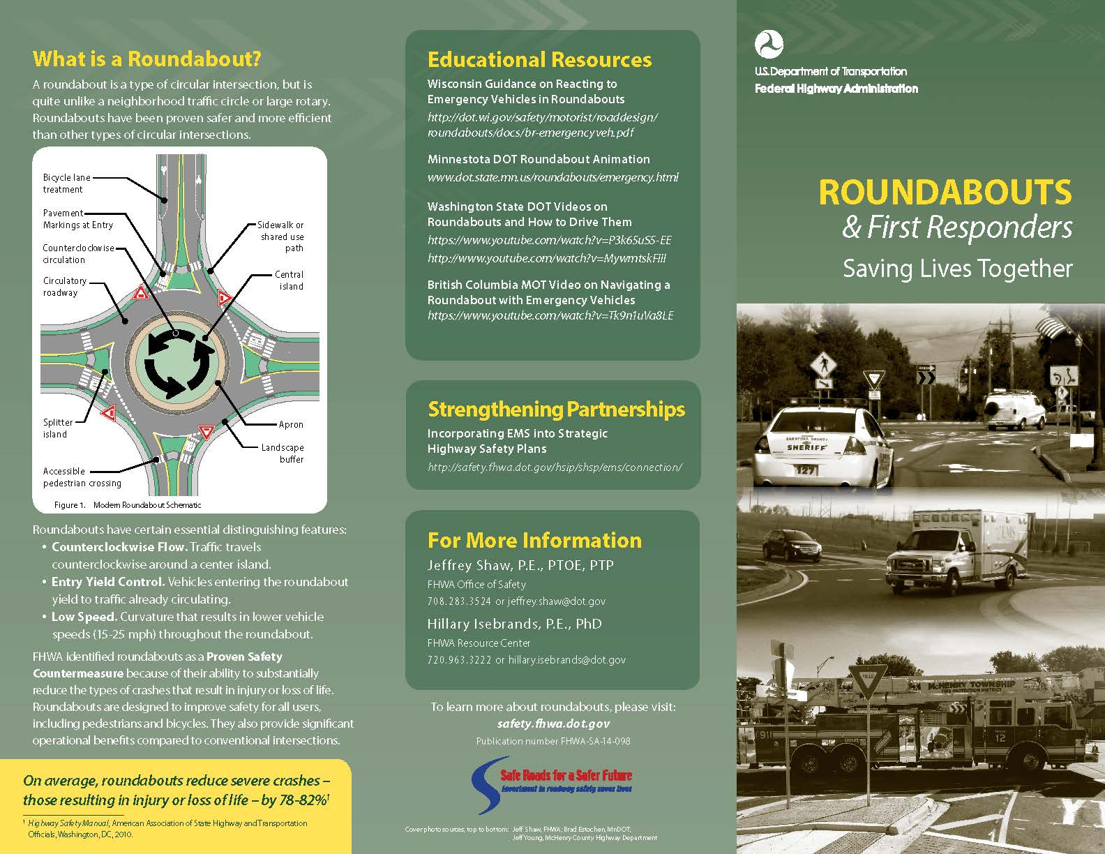 FHWA-SA-14-098 Roundabouts and First Responders Br