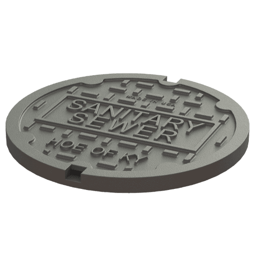 manhole cover image for sanitary sewer