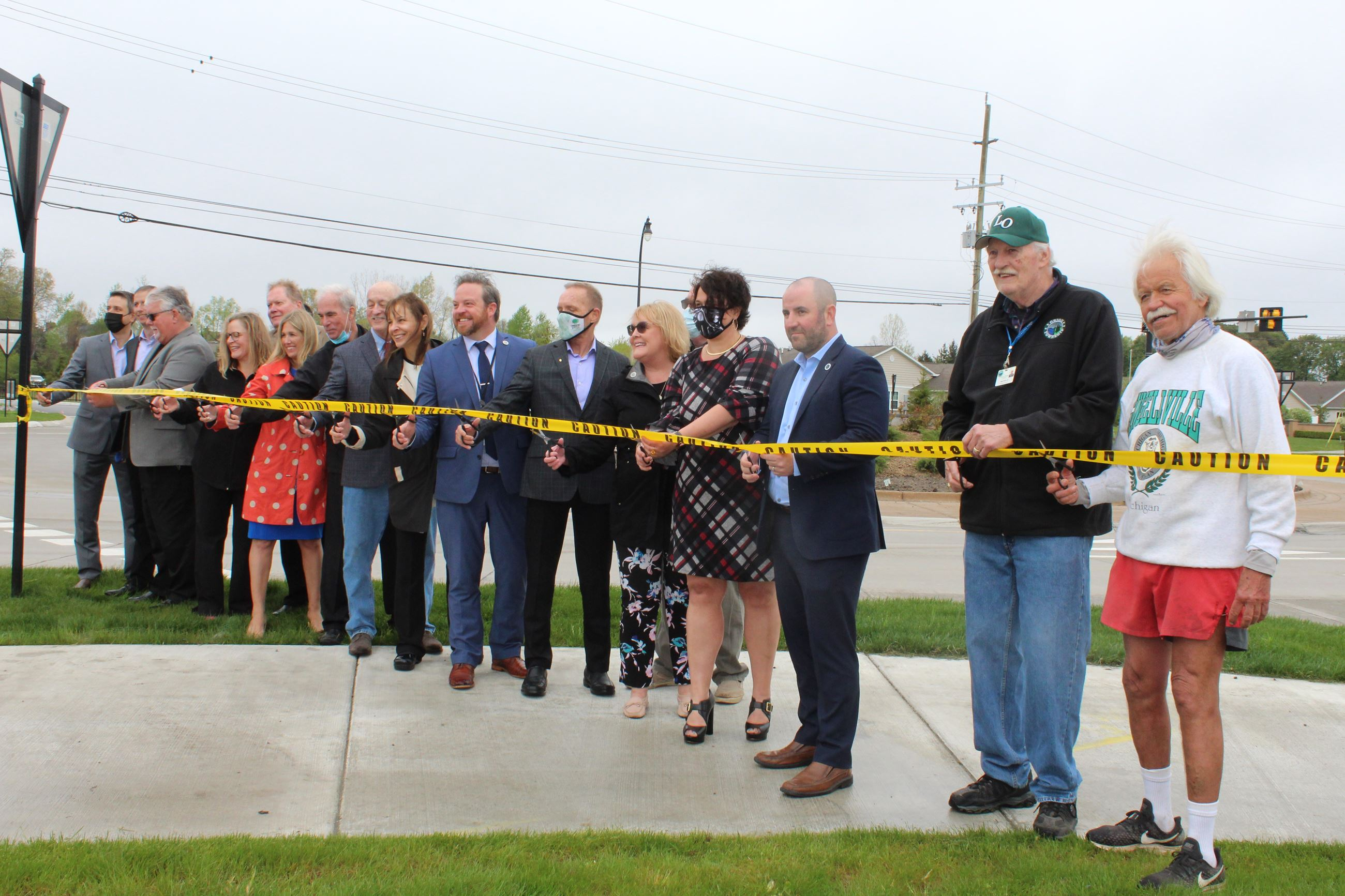 Baldwin Road Ribbon Cutting Ceremony held on May 4, 2021 in Orion Township
