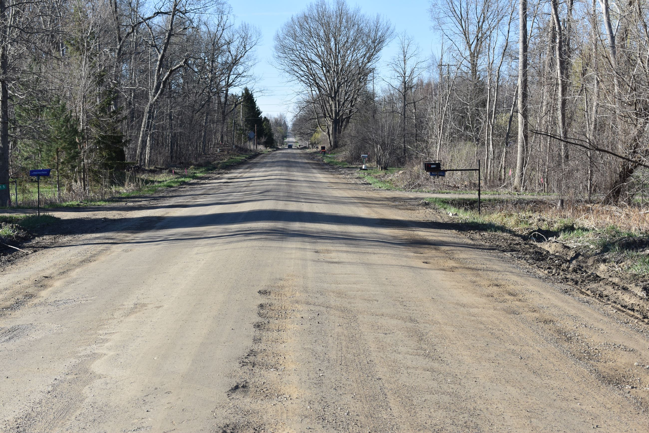 Sashabaw Road north of Sherwood Road pre-construction photo taken on Apr. 24, 2019